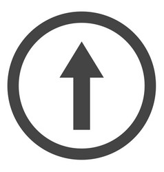 rounded arrow up icon vector image