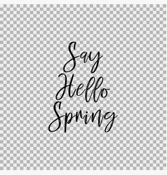 Say hello spring transparent background vector