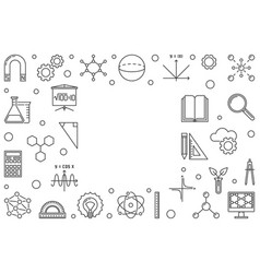 science technology engineering and mathematics vector image