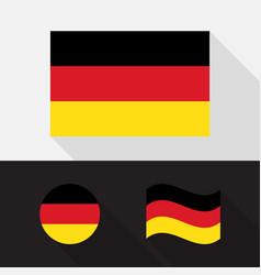 set germany flag flat design vector image