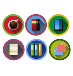 Set of modern flat business icons vector
