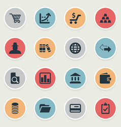 Set of simple investment icons vector