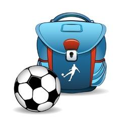 Soccer bag vector image