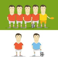 Soccer team clip-art vector image