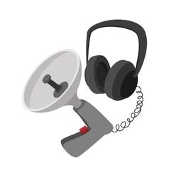 Spy listening device cartoon icon vector