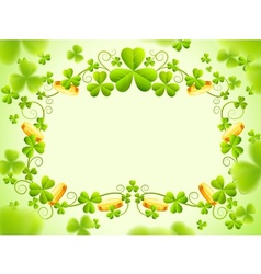 St patricks holiday frame vector image