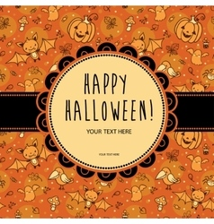 Stylish halloween card vector
