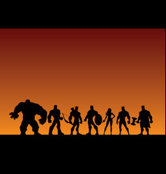 super team background vector image
