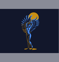 The egyptian goddess isis emblem vector