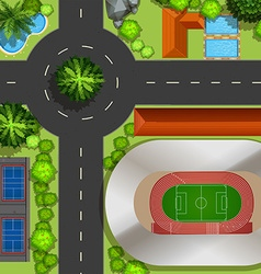 Top view of courts and street vector image