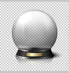 Transparent realistic crystal ball for vector image