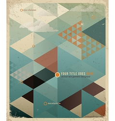 Triangle retro background vector image vector image