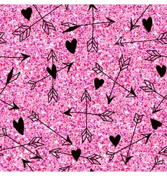 Valentines Day Heart Pink Glitter Pattern vector