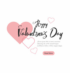 valentines day party web banner background vector image