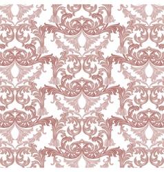 Vintage Baroque ornament pattern vector image