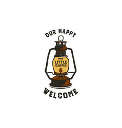 Vintage hand-drawn lantern logo concept perfect vector