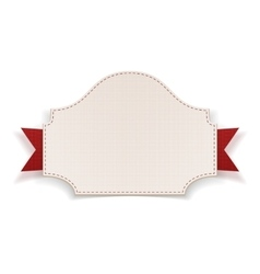 White Badge with red Ribbon vector image