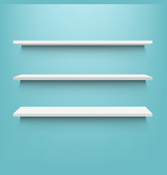 white shelf with mint background vector image
