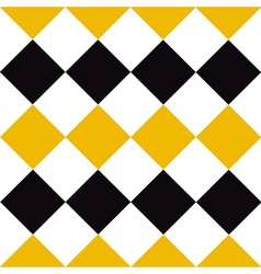 Yellow Black White Diamond Background vector image
