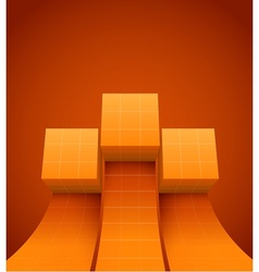 Abstract cubes moving up vector image