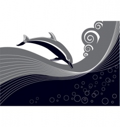 dolphin background vector image vector image