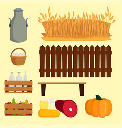 farm nature food harvesting vector image vector image