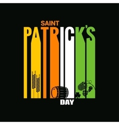 patrick day design background vector image vector image