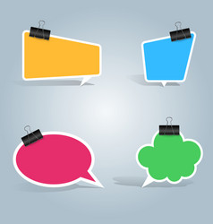 speech bubbles clip pin icon dialog box info vector image vector image