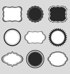 Vintage labels borders frames vector image