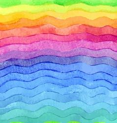 Wavy hand drawn watercolor background version vector image