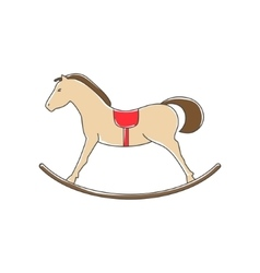 Colorful rocking horse isolated on white vector
