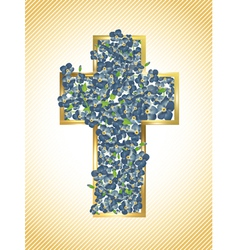 Easter Holiday Cross vector image vector image