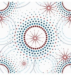 Geometric pattern of circles seamless vector image