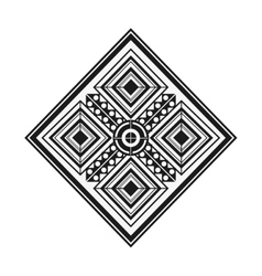 tribal geometric pattern icon vector image vector image