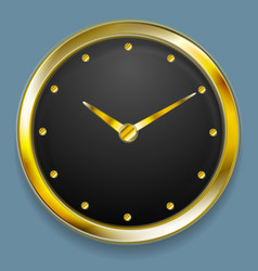 Abstract golden clock design vector image vector image