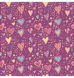 Cute doodle seamless wallpaper vector image
