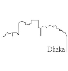 Dhaka city one line drawing vector