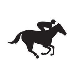 Horse racing side silhouette vector