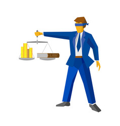 man with balance looks like god of justice vector image