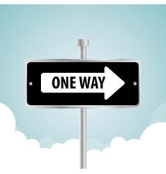 One way road sign advertising design vector image