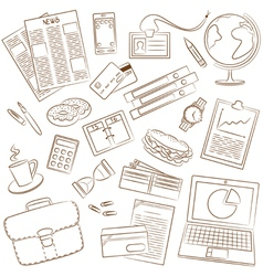 Business theme doodle vector image vector image