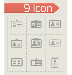 id card icons set vector image vector image