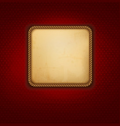 Vintage background with old paper and red wall vector image