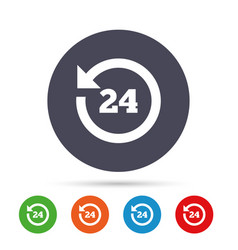 24 hours customer service clock support vector