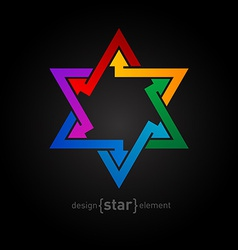Abstract design element spectrum star vector