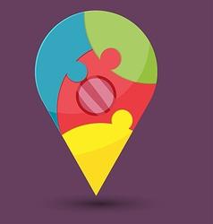 Abstract Navigator Jigsaw Color Symbol vector image