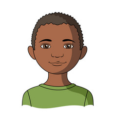 africanhuman race single icon in cartoon style vector image