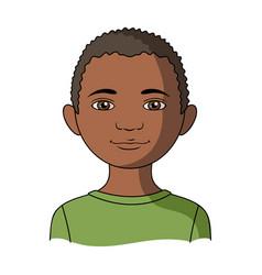africanhuman race single icon in cartoon style vector image