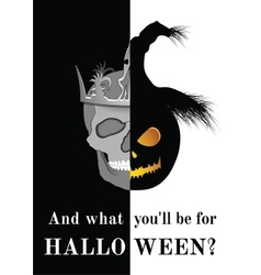 And what you will be for Halloween vector image