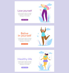 beautiful girl characters healthy active lifestyle vector image